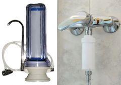 Asztali víztisztító készülék + zuhanyszűrő
