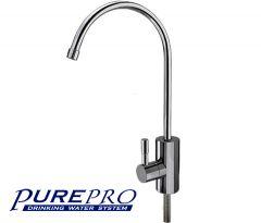 Csaptelep víztisztítóhoz, 1-utas, Modern dizájn, KRÓM, PurePro